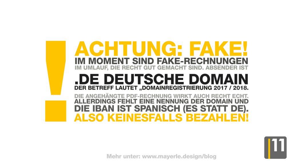 fake-warnung